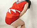 チア娘の濡れた赤パンツ1