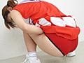 チア娘の濡れた赤パンツ2